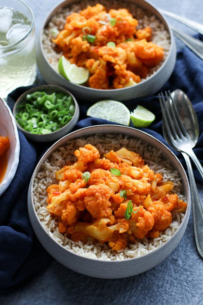 Afghan Tomato & Cauliflower Curry