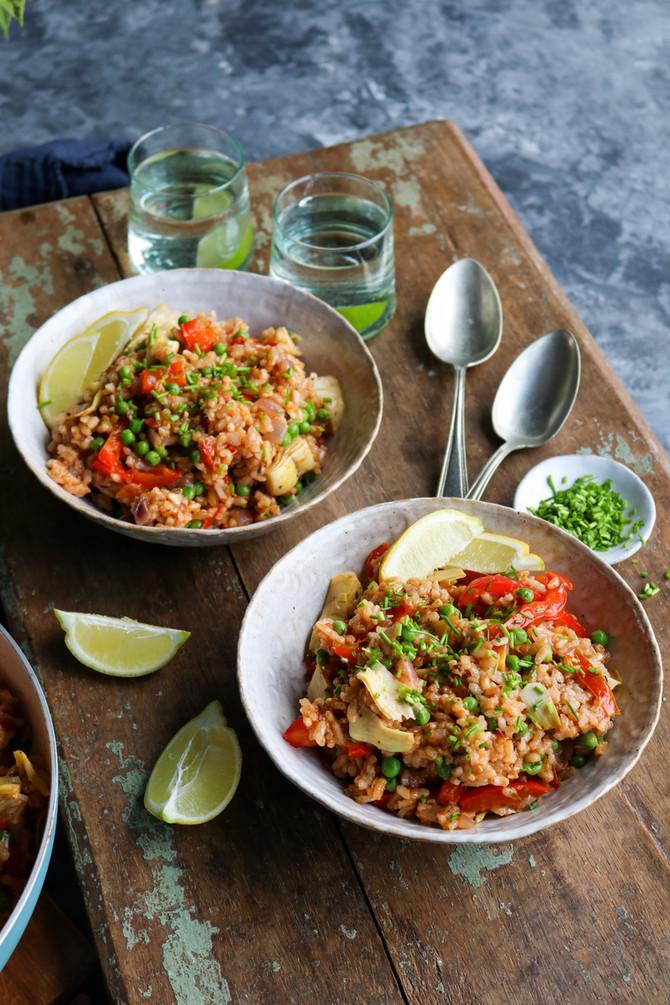 Vegan Paella: Spanish-inspired Rice