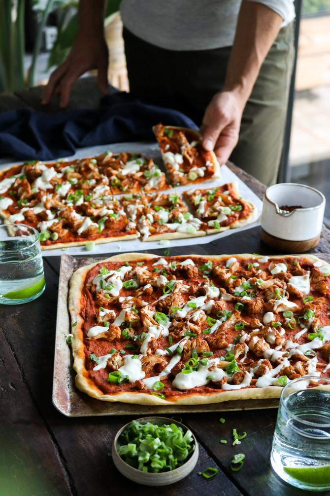 BBQ Cauliflower Pizza