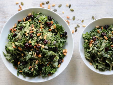 Massaged Umami Kale Salad