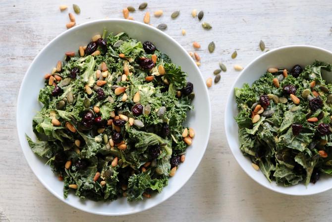 Massaged Umami Kale Salad