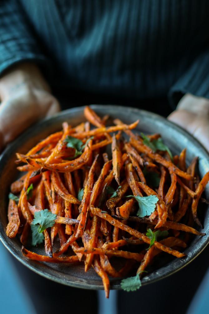 Crispy Oven-Roasted Sweet Potato Fries