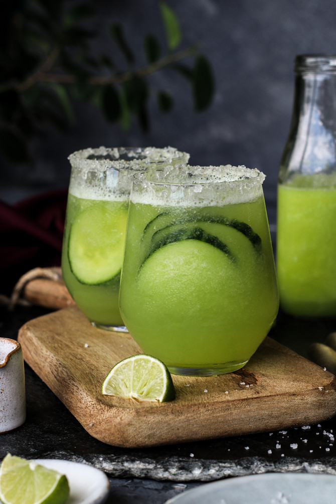 Refreshing Melon Cucumber Soda