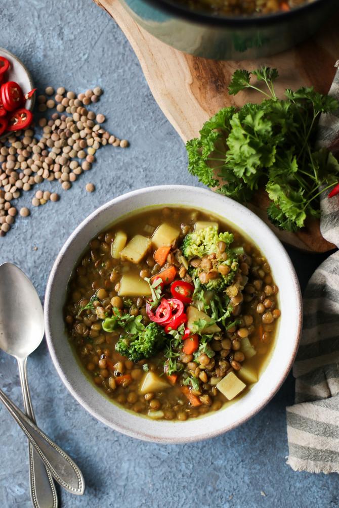 One-Pot Veggie Lentil Soup