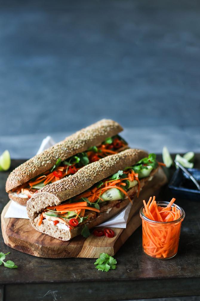 Tofu Vietnamese Sub (Bánh Mì)