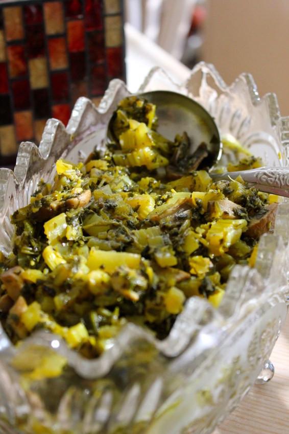 Afghan Mushroom & Celery Curry