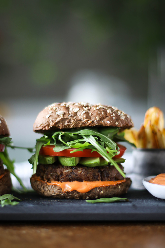 Wild Rice & Mushroom Burger