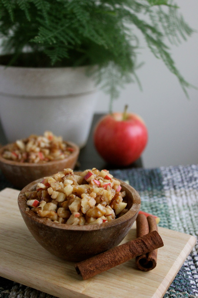 A sweet apple and walnut confection that can serve as a salad, side dish, snack, or dessert.