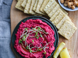 Vibrant Roasted Beetroot Hummus