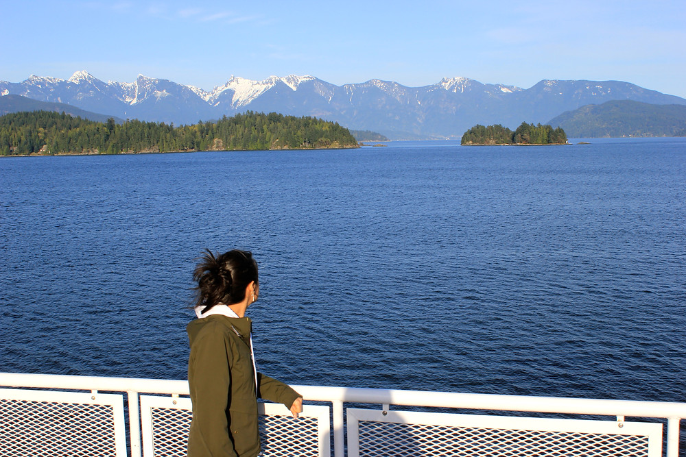 On the ferry to Sechelt, British Columbia, Canada.