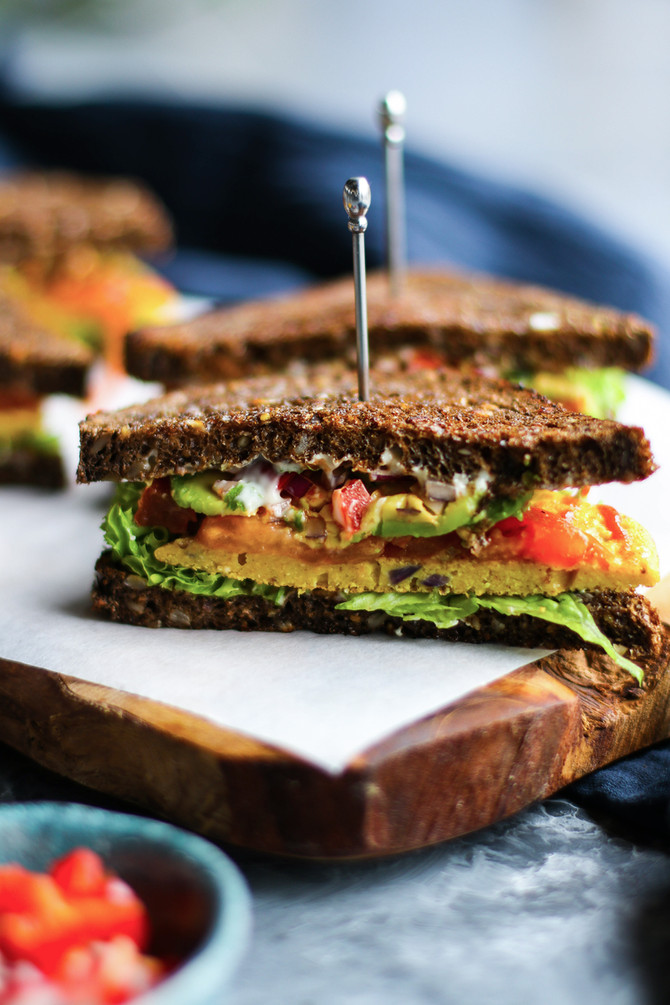 Chickpea Omelette Sandwich
