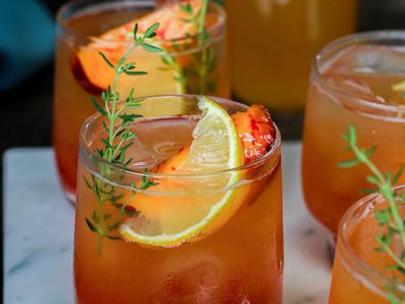 Peach Thyme Iced Tea