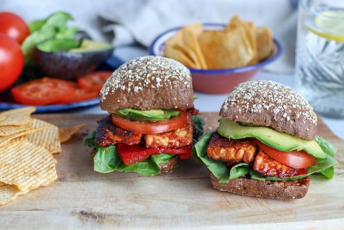 BTLT: BBQ Tempeh Lettuce & Tomato Sandwich