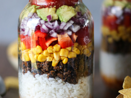 Spiced Black Bean & Rice Salad in a Jar