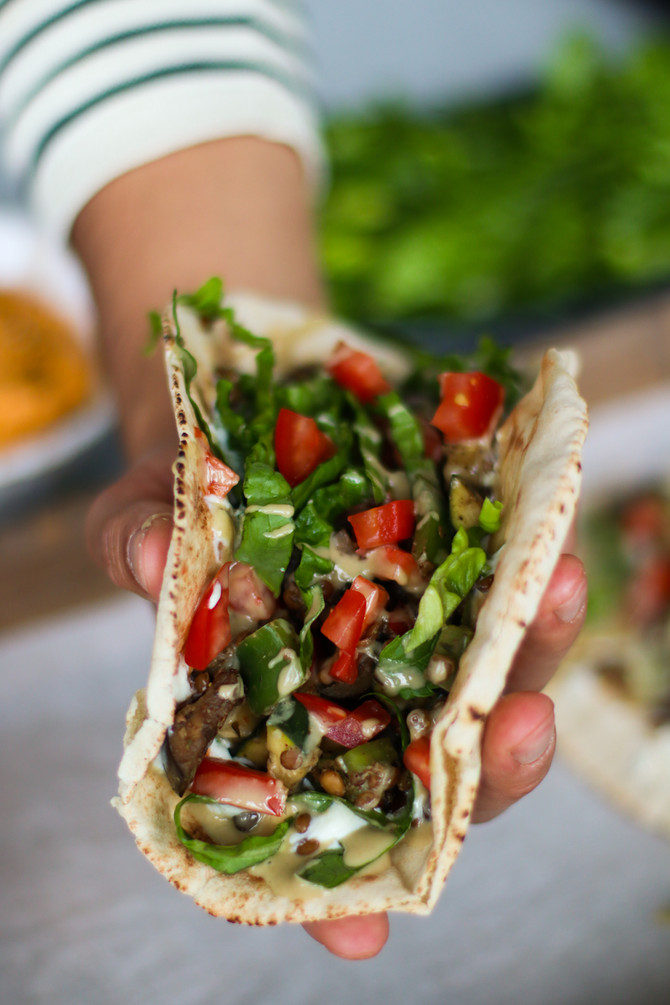 Za'atar & Mint Veggie Wraps