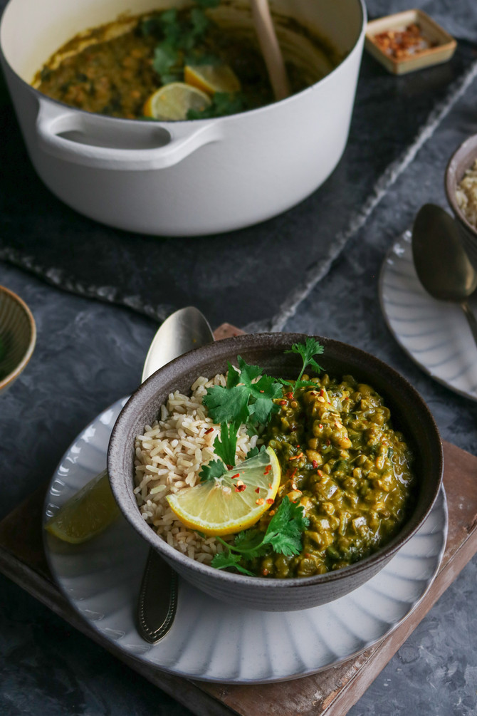 Green Spinach Coconut Curry