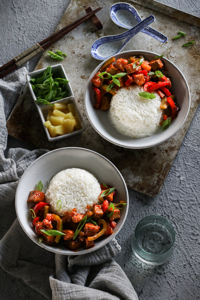 Sweet and Sour Tofu Stir Fry