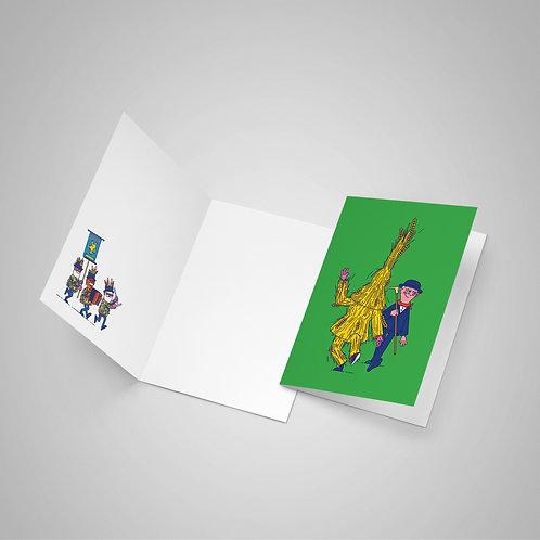 Whittlesea Straw Bear Greetings Card
