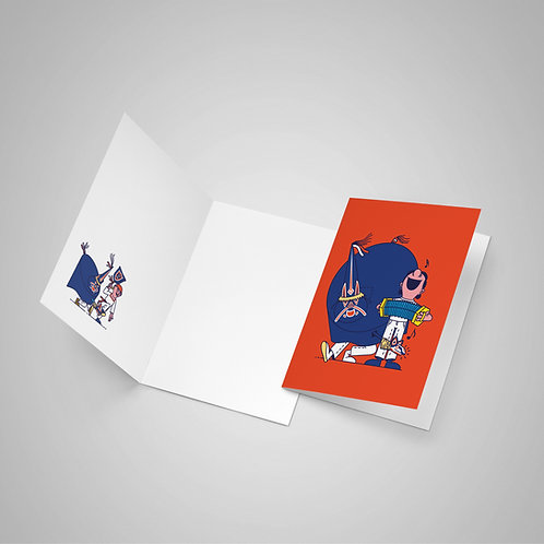 'Obby 'Oss Greetings Card