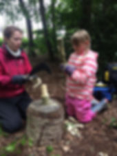 Willows Forest School Holiday Camps. Making a mallet. Wood craft.