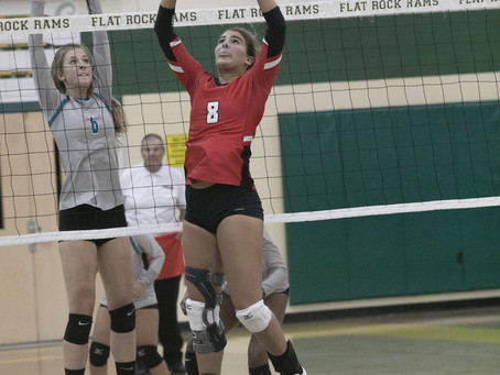 Photos from New Boston Huron vs. Romulus Summit Academy volleyball district semifinal