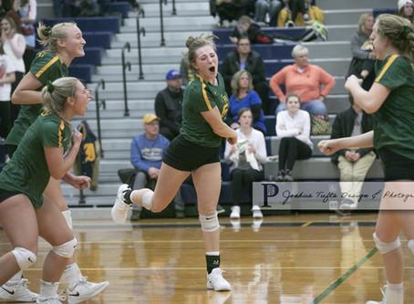 Flat Rock vs. Ida regional volleyball photo gallery