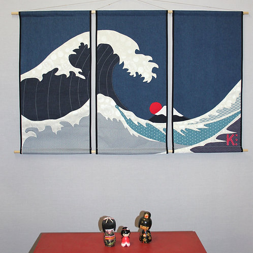 Kakemono Vague triptyque