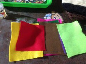 kain flanel warna-warni bahan dasar