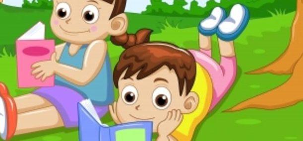 ilustrasi membaca anak-anak