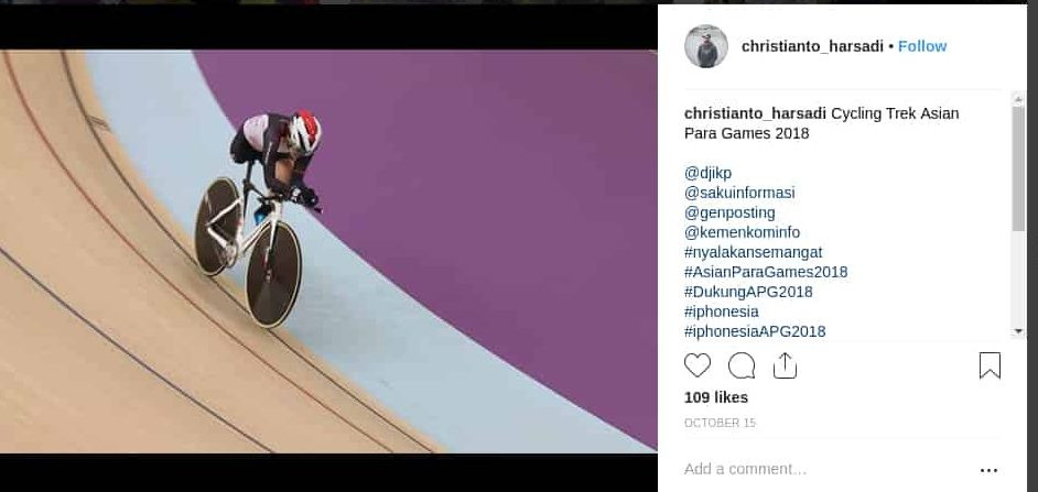 foto atlet balap sepeda asian para games 2018