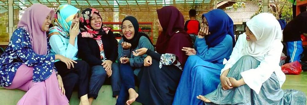 kegiatan gathering Citra Alam Riverside