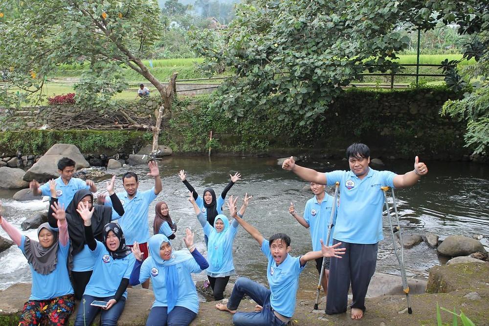 gathering karyawan citra alam riverside