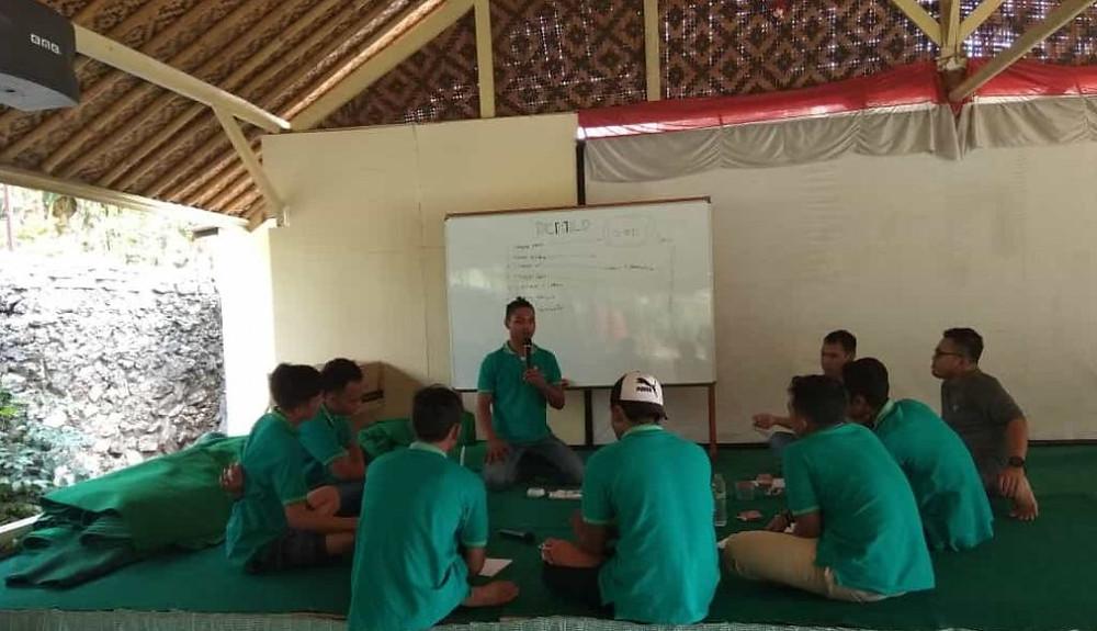 sharing pengetahuan para trainer outbound citra alam