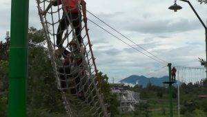 permainan outbound perorangan highropes