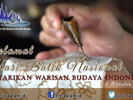 Hari Batik Nasional 2019 : Membuat Batik Jadi Bermanfaat
