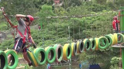 permainan highropes skyring