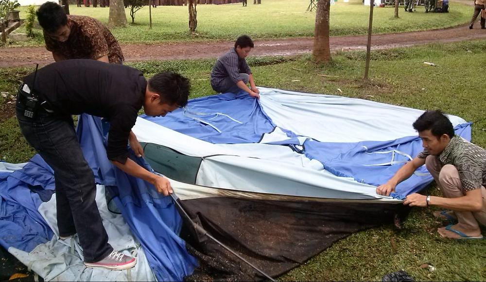 persiapan camping Citra Alam Lakeside