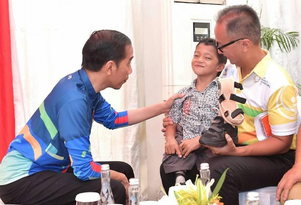 Dialog Presiden dengan bocah penyandang disabilitas