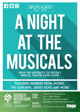 A Night at the Musicals | Exeter University Spotlights