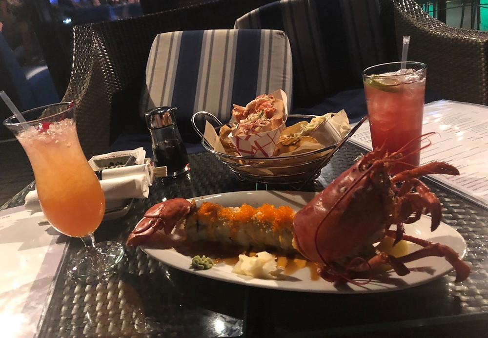 lobster roll eaten by Chicago escort