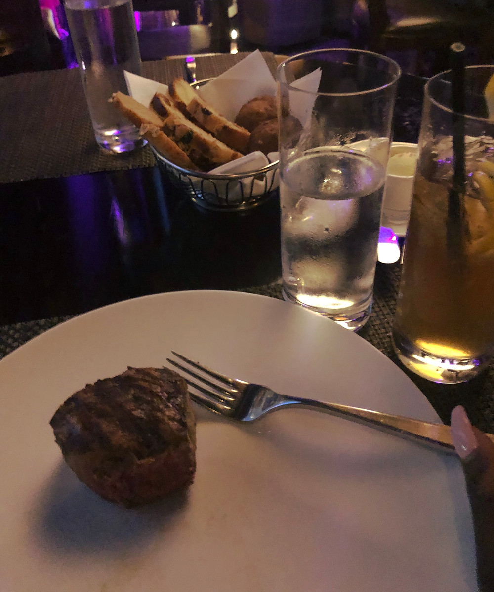 dinner of steak with a gentleman