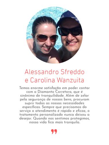 Alessandro Sfreddo e Caroline Wanzuita