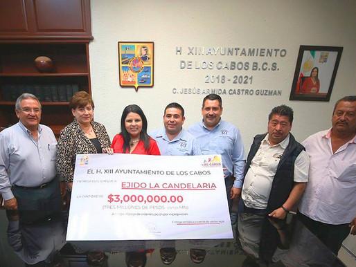 Ayuntamiento de Los Cabos indemniza con 3 mdp al Ejido La Candelaria