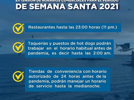 AMPLÍAN HORARIOS COMERCIALES Y DE SERVICIOS PARA EL PERIODO DE SEMANA SANTA EN LORETO.