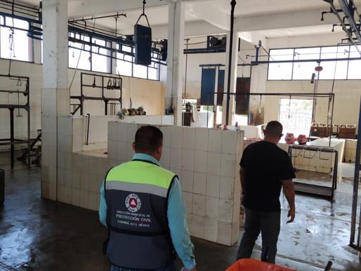 Protección Civil visita las instalaciones del Rastro Municipal