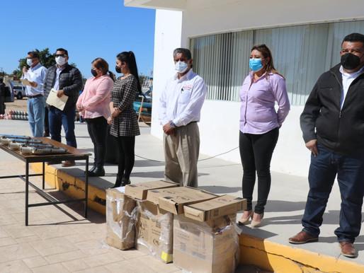 ALCALDE DE MULEGÉ ENCABEZA ENTREGA DE APOYOS A PRODUCTORES RURALES EN VIZCAÍNO