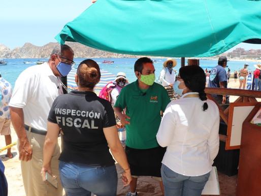 Para evitar más contagios de COVID-19, Inspección Fiscal realiza recorridos de vigilancia en Cabo Sa