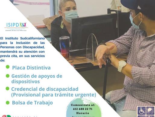 INSTITUTO PARA LA INCLUSIÓN DE PERSONAS CON DISCAPACIDAD BRINDA ATENCIÓN PREVIA CITA TELEFÓNICA