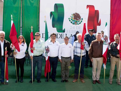 CON CEREMONIA CÍVICA CELEBRA AYUNTAMIENTO DE MULEGÉ EL DÍA DE LA BANDERA NACIONAL