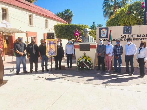 CONMEMORA AYUNTAMIENTO DE LORETO EL 215 ANIVERSARIO DEL NATALICIO DE BENITO JUÁREZ GARCÍA